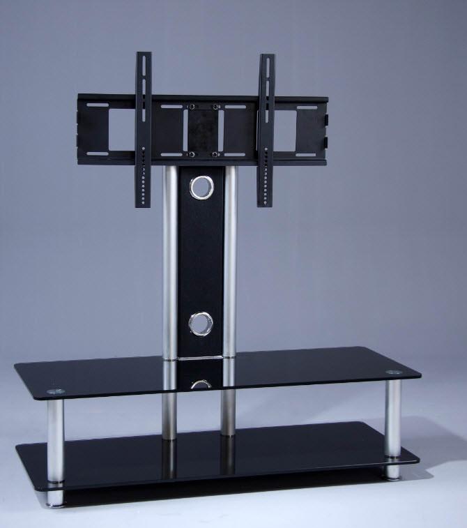 exklusives tv m bel mit halterung von berling schwarzglas. Black Bedroom Furniture Sets. Home Design Ideas