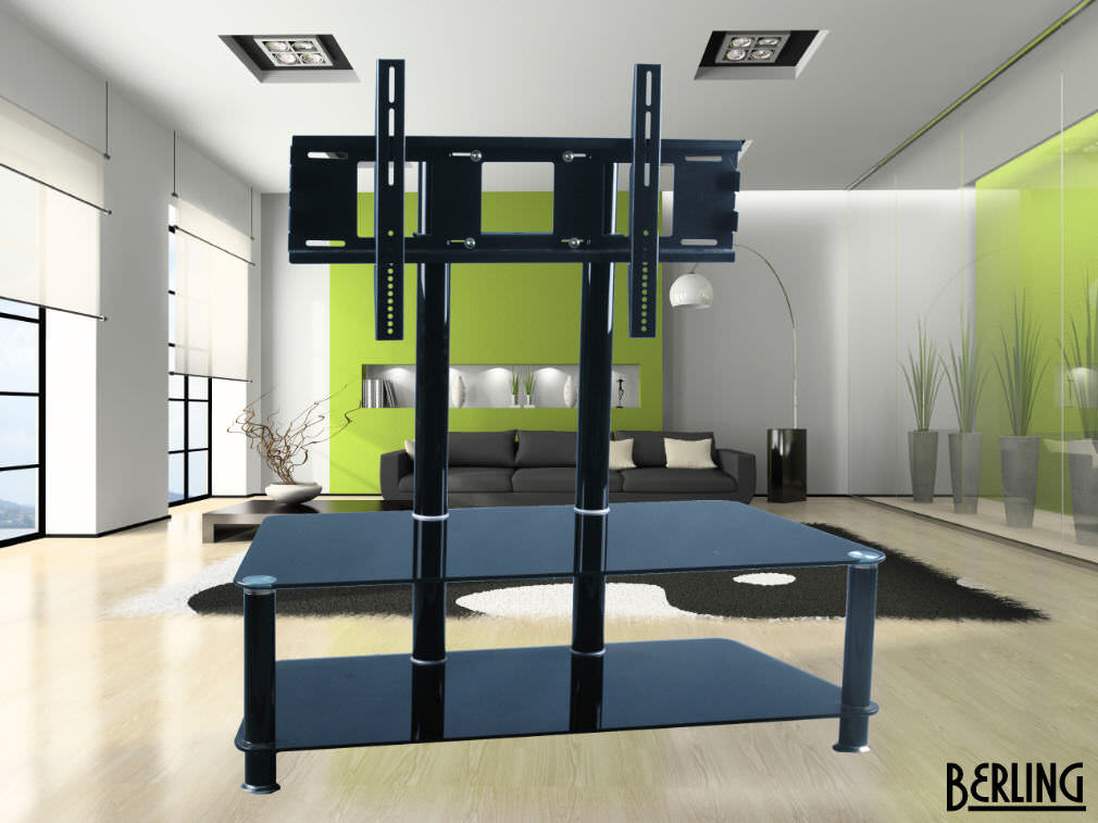 berling tv m bel mit halterung schwarzglas neu np 799 ebay. Black Bedroom Furniture Sets. Home Design Ideas