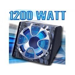 Basskiste, 1200 Watt, Neon-LED-Beleuchtung, Camouflage, SHOX-ZONE SZ-12US