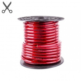 Stromkabel 35 mm² Ø, Vollkupfer (High-Quality) Meterware, rot