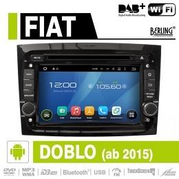 Android Autoradio für Fiat Doblo ab 2015, DAB+ ready, Berling AN-7068