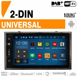 2-DIN Autoradio, Deckless, GPS, DAB+, Berling TS-2088, ANDROID Version
