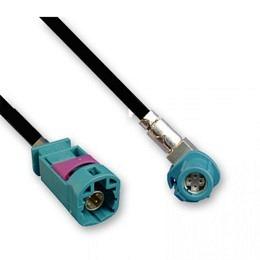 HSD Kabel Stecker auf HSD Buchse linksgewinkelt 100cm - Kodierung univ.