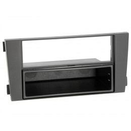 Radioblende AUDI A6 2001 bis 2004, 1/2-DIN Kit , schwarz