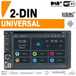 Universelles 2-DIN Autoradio, inkl. DAB+, Berling TS-2045, ANDROID