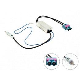 Antennenadapter Doppel Fakra (M) auf DIN für DIV.Fahrzeuge mit Antennendiversity