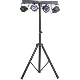 "Lichtstativ-Set""DJLIGHT65""60W,Laser+2 PAR Strahlern"