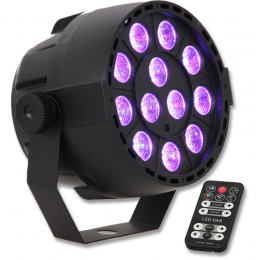 "LED PAR Strahler""PAR-MINI-RGB3""12x3W LED's, 230V"