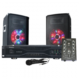 "Disco Sound-SET ""DJ350LED"" 500W 230V"