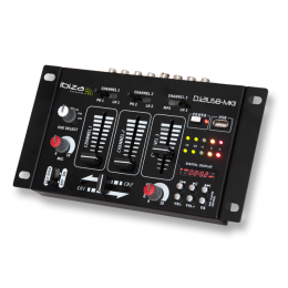 "4-Kanal-Mischpult ""DJ21USB-MKII""  USB/ MP3, Display"