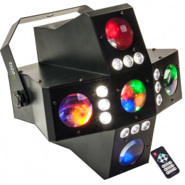 "LED-Lichteffekt 2-in-1 ""CROSS-GOBOFX"", DMX-28Kanal"