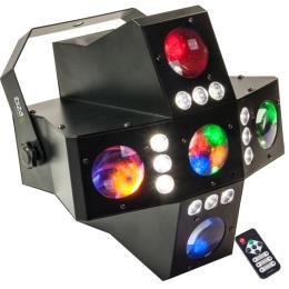 "LED-Lichteffekt 2-in-1 ""CROSS-GOBOFX"", DMX-28Kanal"
