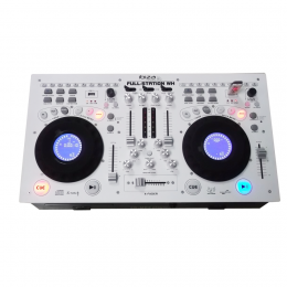 """""""FULL-STATION-WH"""" Doppel-CD,USB,SD,Mixer weiß"""