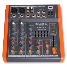 "Mischpult ""MX401"" 4CH, USB, Equalizer 5-Band, 230V"