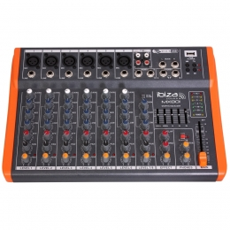 "Mischpult ""MX801""  8-Kanal 5-Band Equalizer,USB,230V"