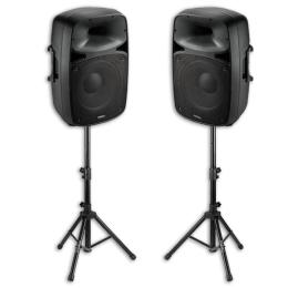 "Soundanlage ""PKG15A-SET"" 2x500W,BT,USB,SD,230V"