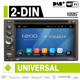 2-DIN Autoradio, Android, DAB+ ready, Parrot, CD/DVD, Berling AN-6504