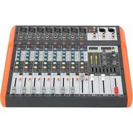 "Musikmischpult ""MX802"", 8-Kanal, USB-Player/Rekorder, 7-CH-Equalizer"