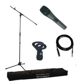 """Mikrofon-Stativ-Set """"SMPACK"""", 5-tlg. Mikro, Kabel, Sänder"""