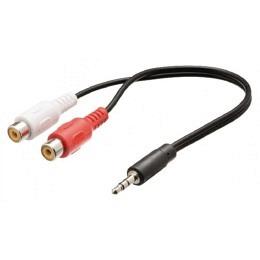 Audiokabel 3,5mm Klinkenst. Stereo auf 2x Cinchbuchse, 30cm