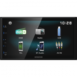 Kenwood DMX125DAB DAB+, USB-Mirroring, Bluetooth, inkl. DAB-Antenne