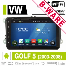 Android Autoradio, GPS für VW/Skoda DAB-ready, Berling AN-8000, B-Ware (Nr. 421)