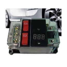 2-fach Sicherungsautomat 80A mit Spannungsanzeige