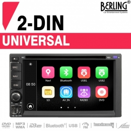 "2-DIN Autoradio, 6.2"" Touchscreen, Navigation, Berling TS-2045, B-Ware (Nr. 435)"
