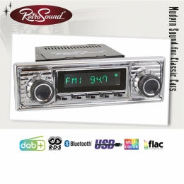"""Retro Radio """"SANTA BARBARA"""" Komplett-Set mit DAB+, Bluetooth, A2DP, USB"""