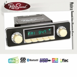 "Retro Radio ""SANTA BARBARA"" Komplett-Set mit DAB+, Bluetooth, A2DP, USB"