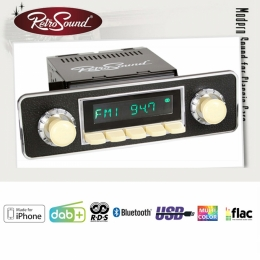 "Retro Radio ""SAN DIEGO"" Komplett-Set mit DAB+, Bluetooth, A2DP, USB, iPod/iPhone"