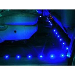 """LED-Bodenleuchtenset, McFun, 4 Leuchtstreifen à 60cm in blau """"BLS-460"""""""