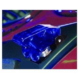 Kill-Switch mit Schutzklappe und LED, blau/transparent