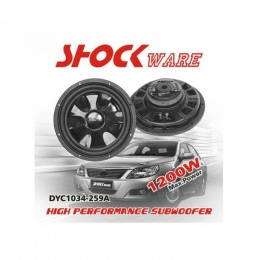 "Flat-Subwoofer, 1200 Watt, 10"" 25cm, Shockware"