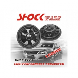 "Flat-Subwoofer, 1500 Watt, 12"" 30cm, Shockware"