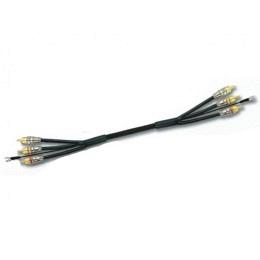 High-End Cinch-Kabel 3er-RCA-Gold inkl. Remote, 5Meter