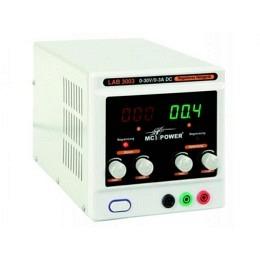"Labornetzgerät McPower, 0-30V, 0-3A regelbar, 2x LED-Anzeige ""LAB3003"""