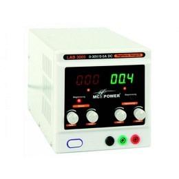 "Labornetzgerät McPower, 0-30V, 0-5A regelbar, 2x LED-Anzeige, ""LAB3005"""