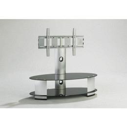 TV-Möbel mit Halterung, drehbar, Schwarzglas, Berling FAVS33B