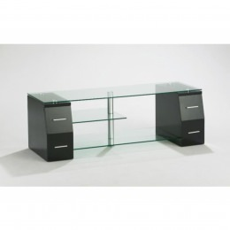 TV-Möbel, mit 4 Schubladen, Klarglas, Berling W02-CS