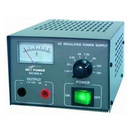 "Netzgerät McPower, 8 Spannungen 1,5...15V=, 5Amp, ""NG-1505-A"""