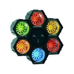 Lichtorgel McVoice, 6-Kanal, 230V 47 LEDs/Modul, regelbare Geschwindigkeit