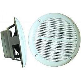 "Aussen-Lautsprecher, 2-Wege, 8 Ohm, 80 Watt, 127mm, weiss, ""M-5"" (Paarpreis)"
