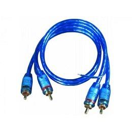 """Cinchkabel Stecker auf Stecker """"Blue RCA"""" 0,5m"""