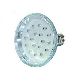 LED-Strahler in PAR-30 Bauform, 230V 18 LEDs, E27-Sockel, weiss, 20.000h