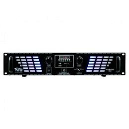 "PA-Verstärker, McTaatoo, 2x250W, USB/SD, 19""/2HE, schwarz, LED Bluestream 500bl"
