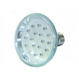 LED-Strahler in PAR-30 Bauform, 230V 18 LEDs, E27-Sockel, blau, 20.000h
