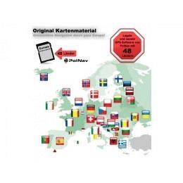 Original PolNav Navigationskarte 48Länder Europa's