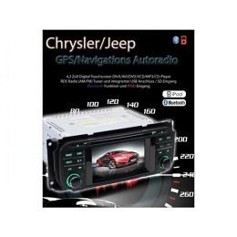 B-WARE, 2-DIN Autoradio, GPS/Navigation, DVD, für Chrysler/Jeep/Dodge (B-250)