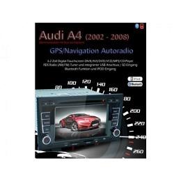 2-DIN Autoradio, GPS/Navigation, DVD, speziell für AUDI A4, B-Ware (Nr. 252)